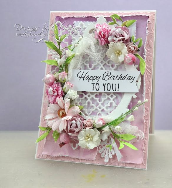 Exceptional Card Making Magic Ideas Part - 5: Flowers, Ribbons And Pearls: Shabby Chic With Card Making Magic