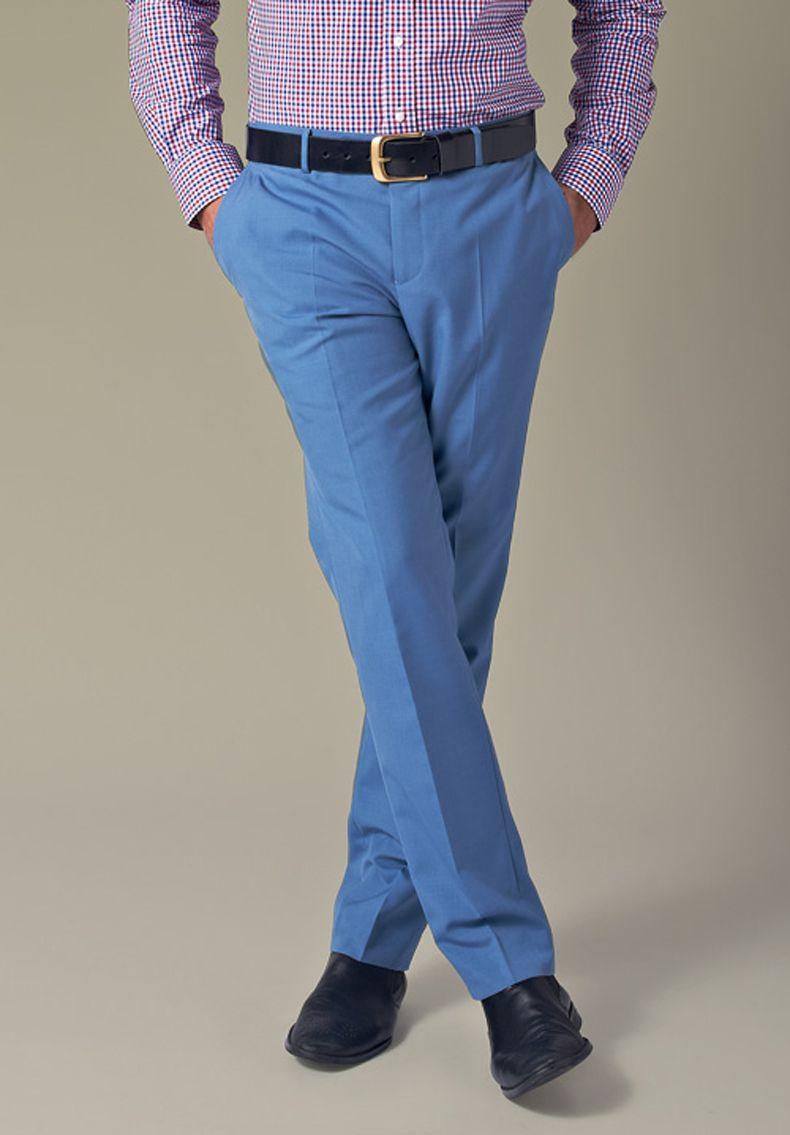 какую рубашку подобрать к синим брюкам фото должны