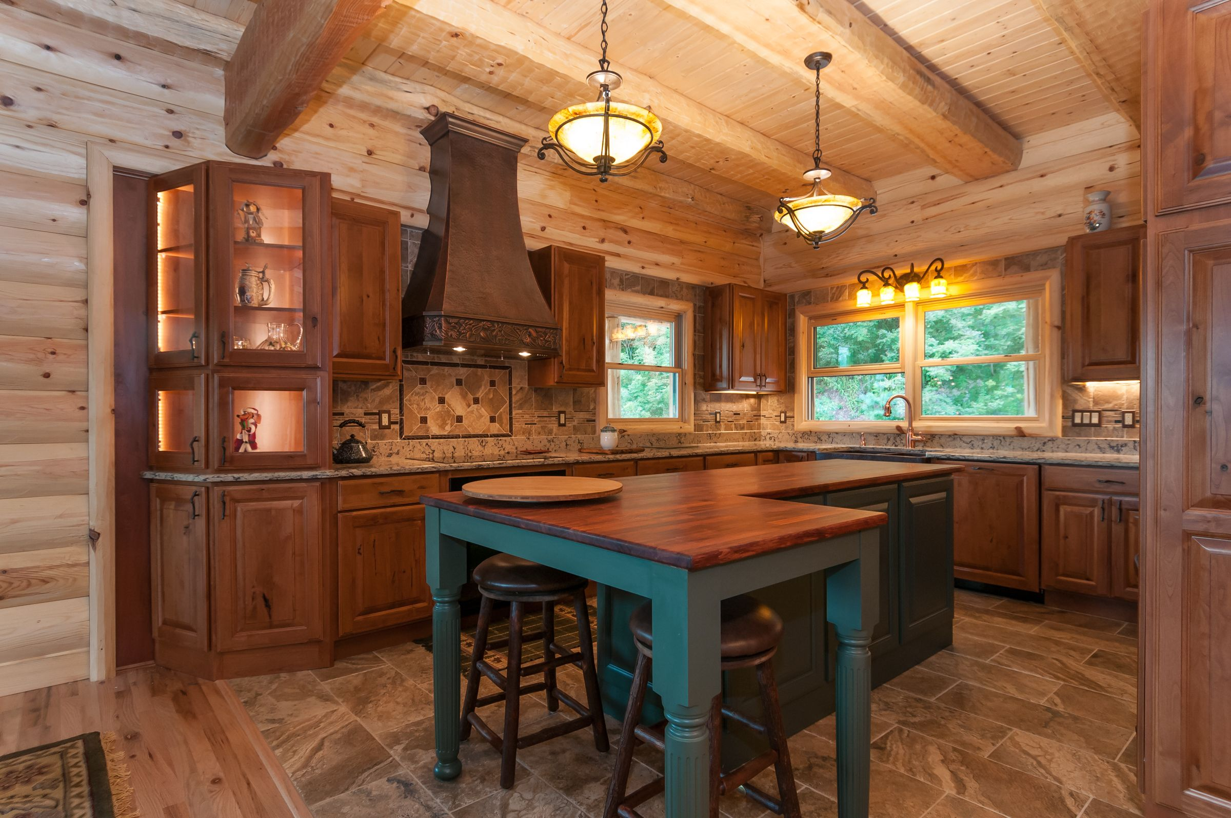 Modern Kitchen Mountain Modern Mountain Home Kitchen Ideas Log Cabin Log Cabin Kitchen Kitchen Island Cabin Kitchens Small Cabin Kitchens Small Kitchen