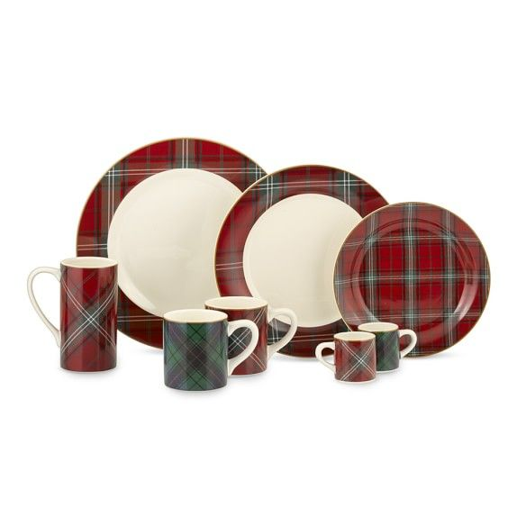 Tartan Dinnerware Collection | Williams-Sonoma  sc 1 st  Pinterest & Tartan Dinnerware Collection | Williams-Sonoma | Christmas ...