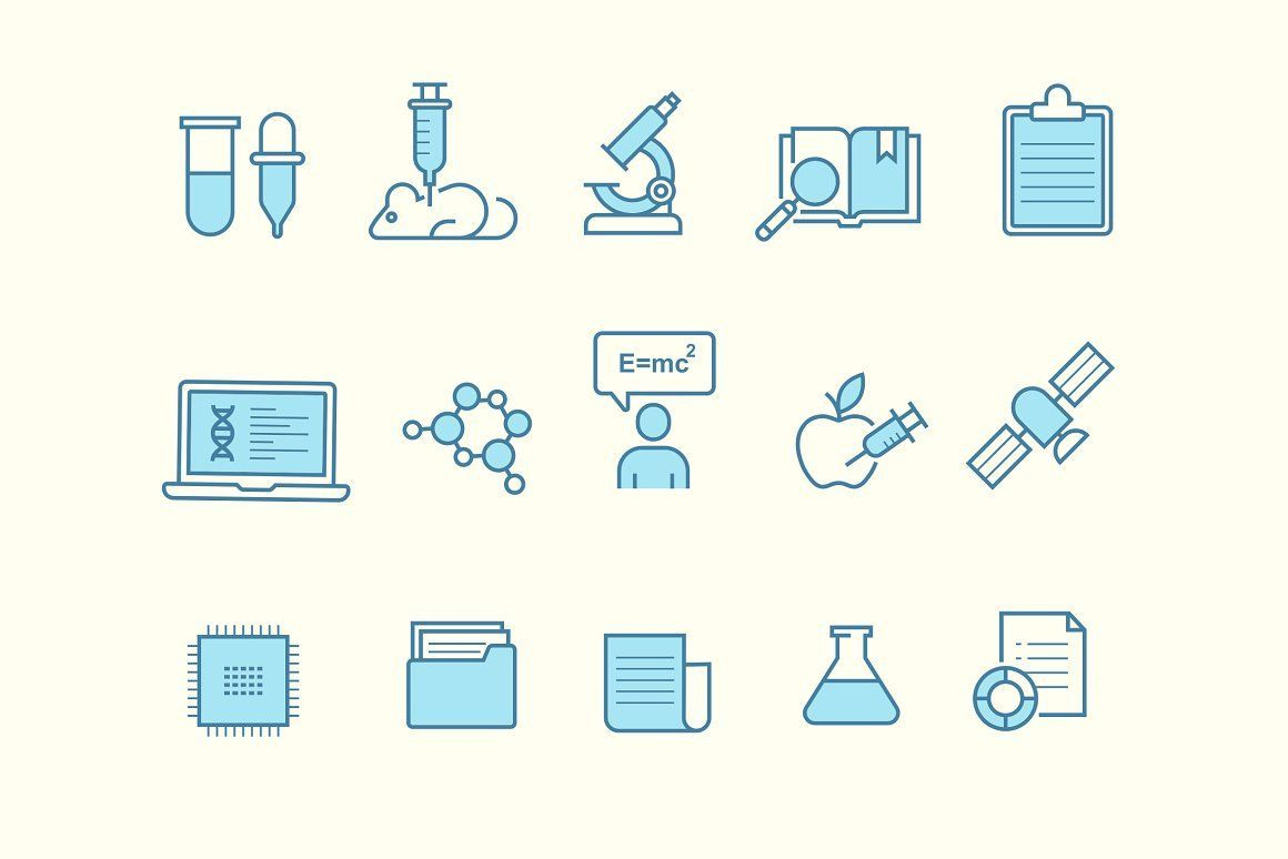 15 Research Icons