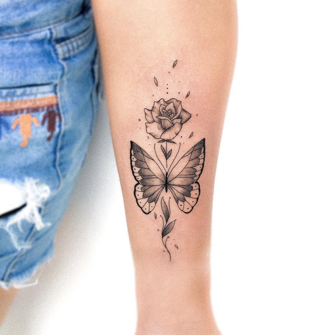 Tattoo Artist Bruna Martins On Instagram Butterfly Made