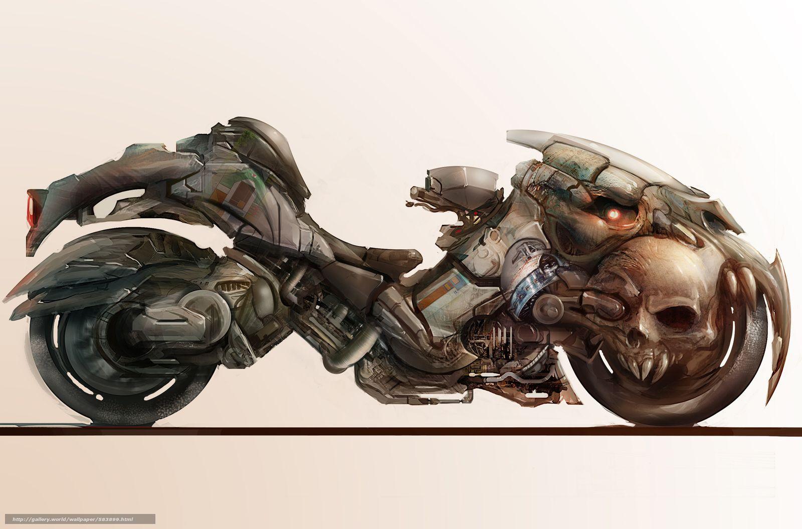 Motorcycle, Art, Fantasy,