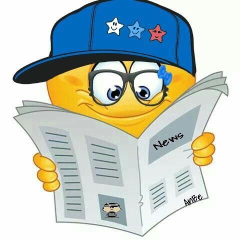 Reading The Newspaper Emoji Smiley Emoji Emotion Faces Emoticon