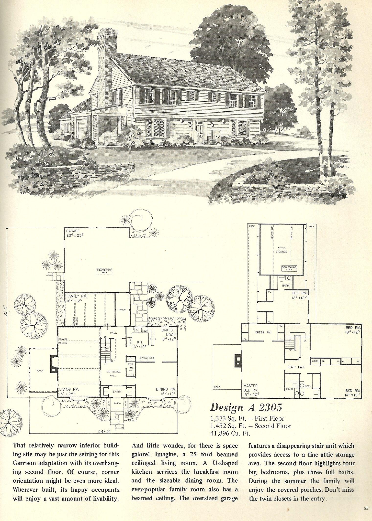 Vintage House Plans 2305 Vintage House Plans House Plans