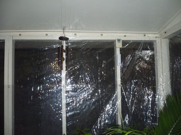 Outdoor Porch Turned Into Green House Outdoor Porch Porch Greenhouse Porch Curtains