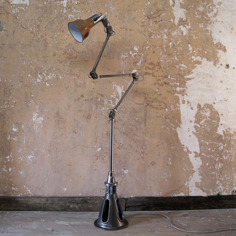 Floor Standing 'MEKELITE' Machinist Lamp By MEK ELEK Of