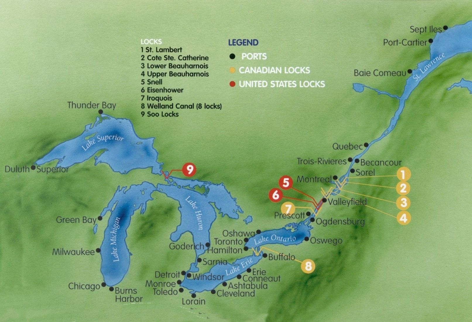 MAP Eastern US Canada Discovery With New York City  NY New - Quebec chicago map