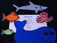 "Felt/ Flannel Board Story  ""Slippery Fish"" Preschool Circle Time Educational"