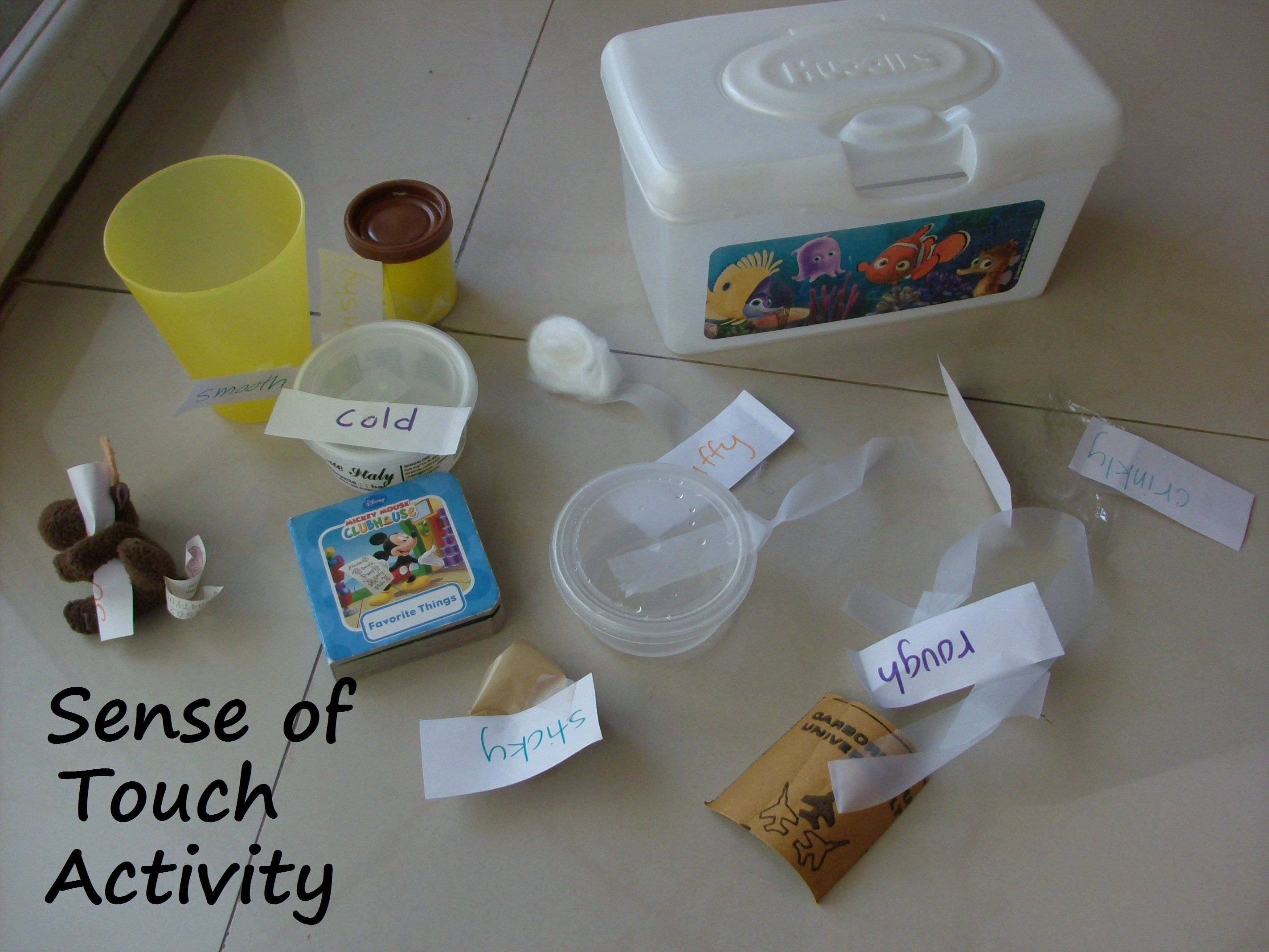 Sense Of Touch Activity For Preschoolers Cold Ice Sticky