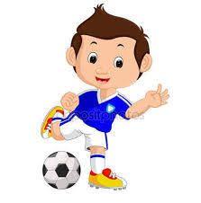 Výsledek obrázku pro futbalista kreslený obrázok