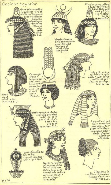 Egypte Antique Coiffure Royale Egito Pinterest History And
