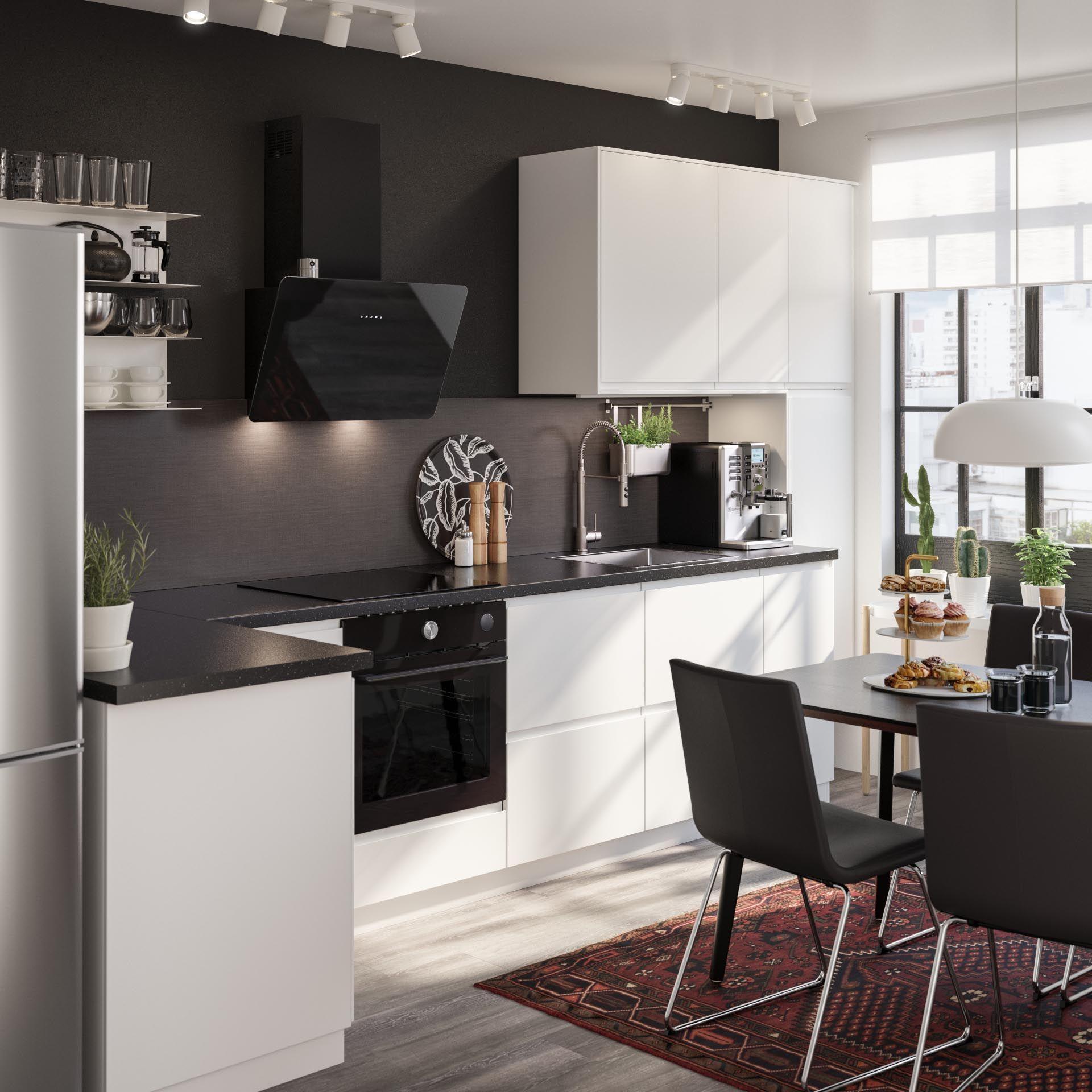 Finsmakare Afzuigkap Wand Zwart Ikea Keuken Idee Keuken Inspiratie Thuisdecoratie