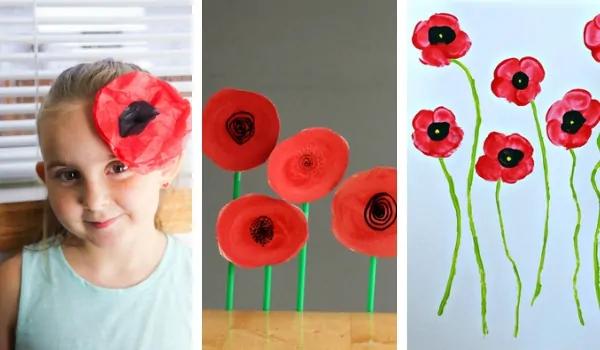 15+ Easy Poppy Crafts for Kids