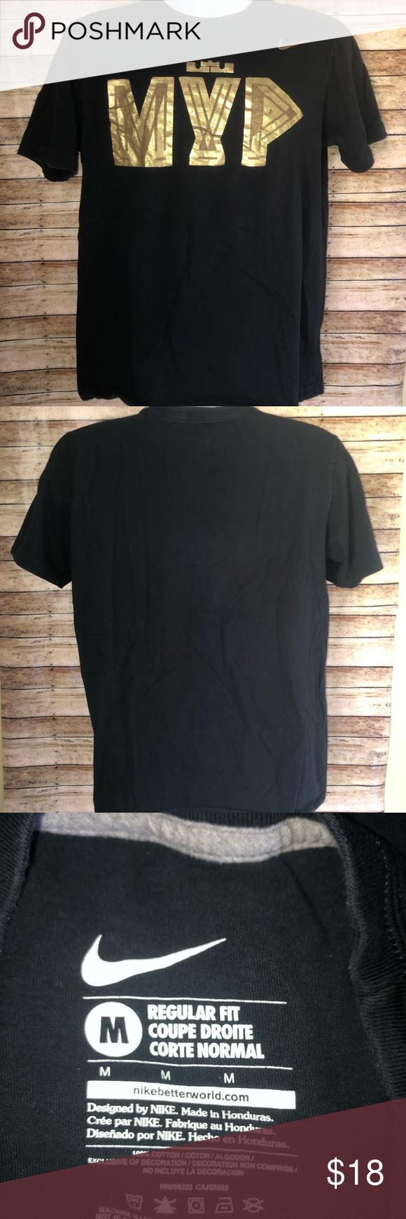 Nike Lebron James Mvp King Logo Black T Shirt M Black Tshirt Nike Nike Lebron [ 1740 x 580 Pixel ]