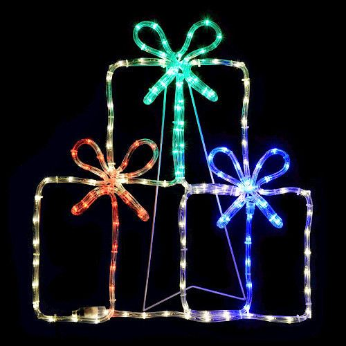 christmas rope lights decoration multi color gift boxes 60cm silhouette holiday unbranded christmas rope