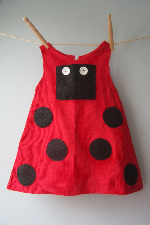 Ladybug dress, baby girl toddler ladybug dress, ladybird fancy dress ...