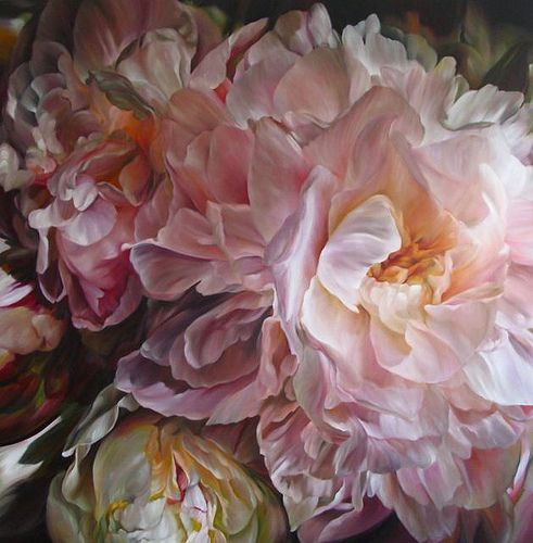 Marcella Kaspar_Heart Strings Symphony_137x137cm_oil on linen_2010