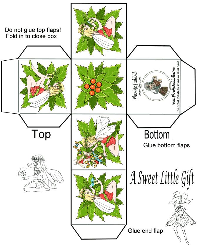Printable Christmas Gift Box Christmas Gift Box Template Gift Box Template Christmas Printables