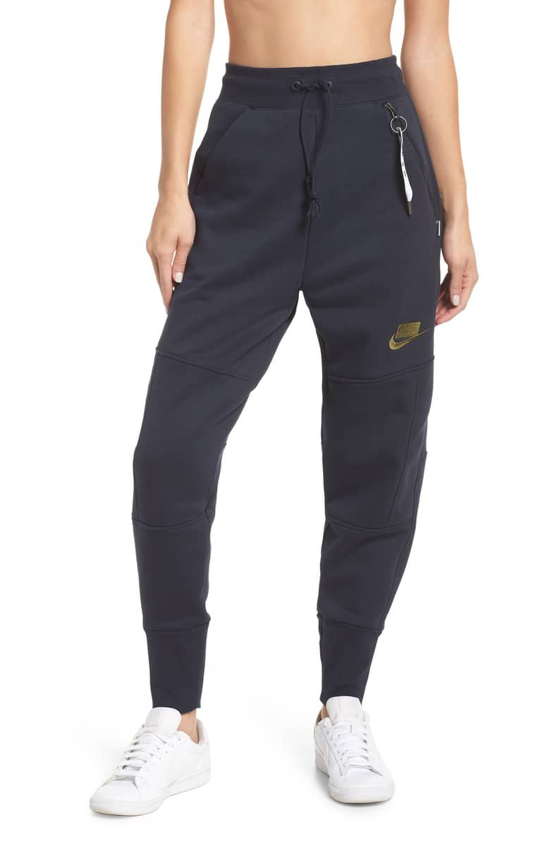 09c10dbd59083 Sportswear NSW Women's Fleece Joggers, Main, color, DARK OBSIDIAN/ DARK  OBSIDIAN