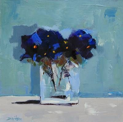 Pansies Studies By Scottish Contemporary Artist Mary Davidson For
