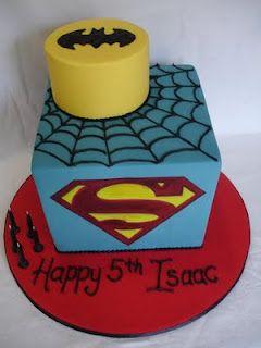 Edible Creations: Superhero Birthday Cake