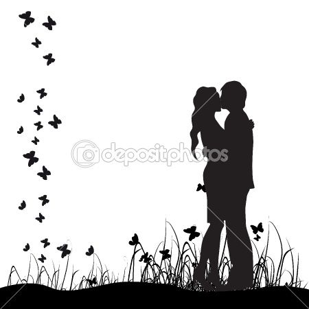Couples Silhouette Silhouette Art Couple Silhouette Black