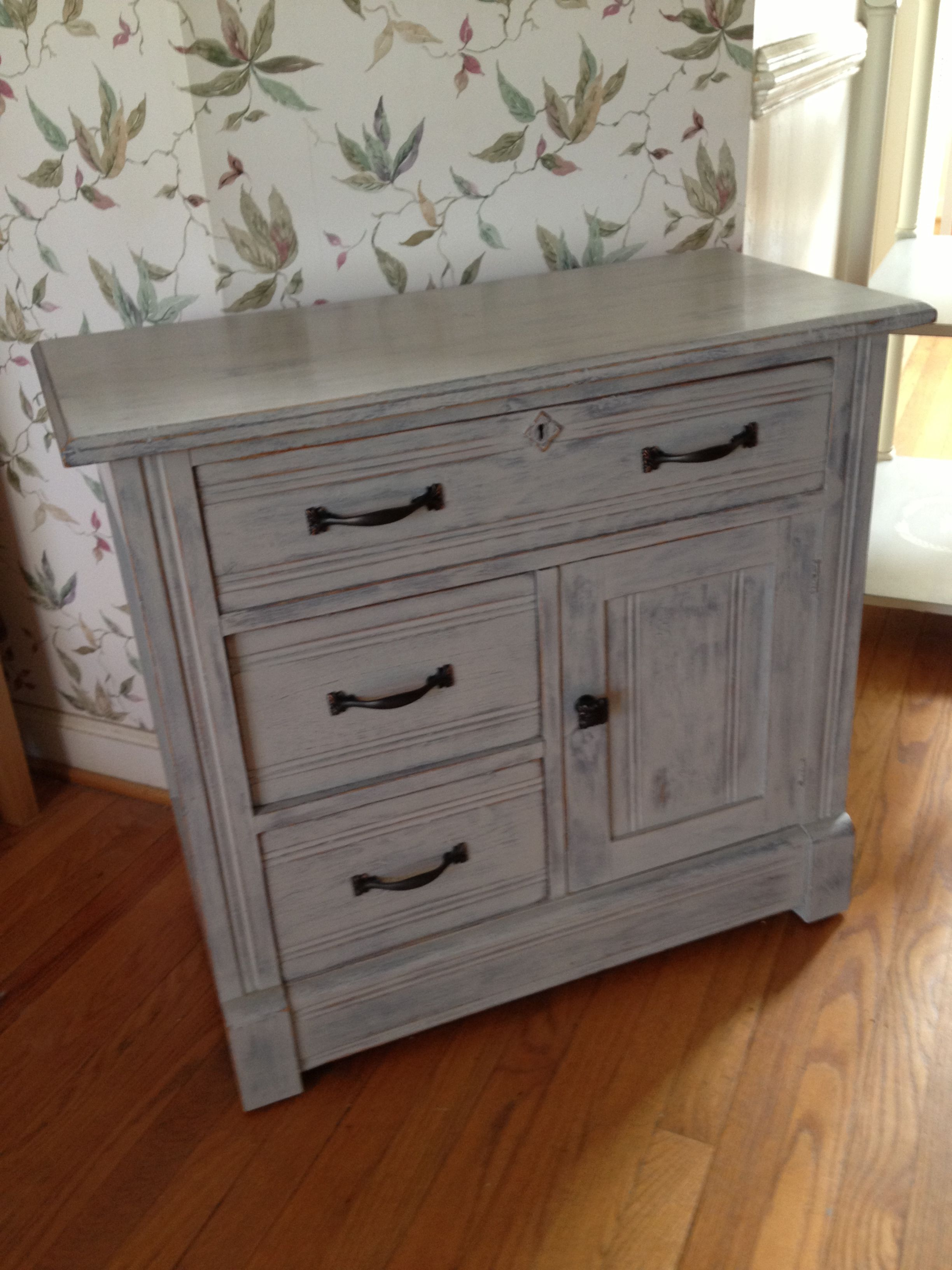 Rustic Antique Cabinet Painted In Annie Sloane Chalk Paint
