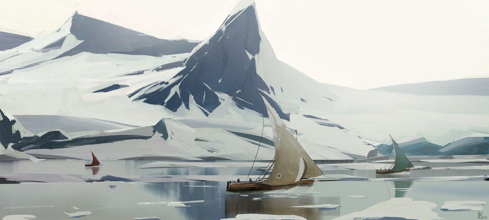 Ships, Leonid Kolyagin on ArtStation at https://artstation.com/artwork/ships-6936551d-0972-4ab4-b5dc-1bf768189de9