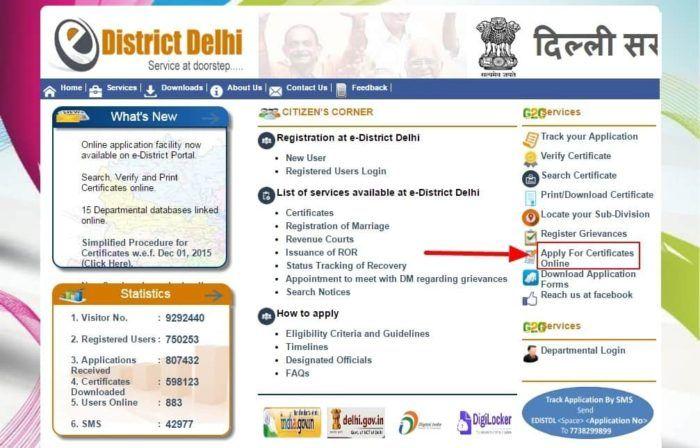 How To Apply For Sc Caste Certificate Online In Delhi