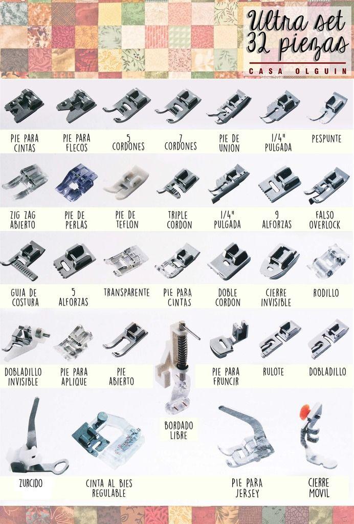 Ultra Set De Prensatelas Para Maquinas De Costura Janome New 1 249 00 Accesorios De Costura Conceptos Básicos De Costura Reglas De Costura
