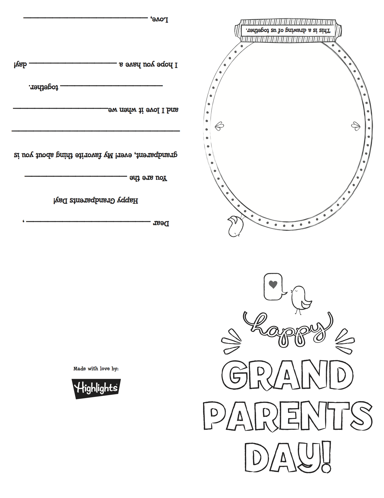 Free Printable Card For National Grandparents Day Sunday Sept 7th 2014 Grandparents Day Cards Grandparents Day Activities Happy Grandparents Day