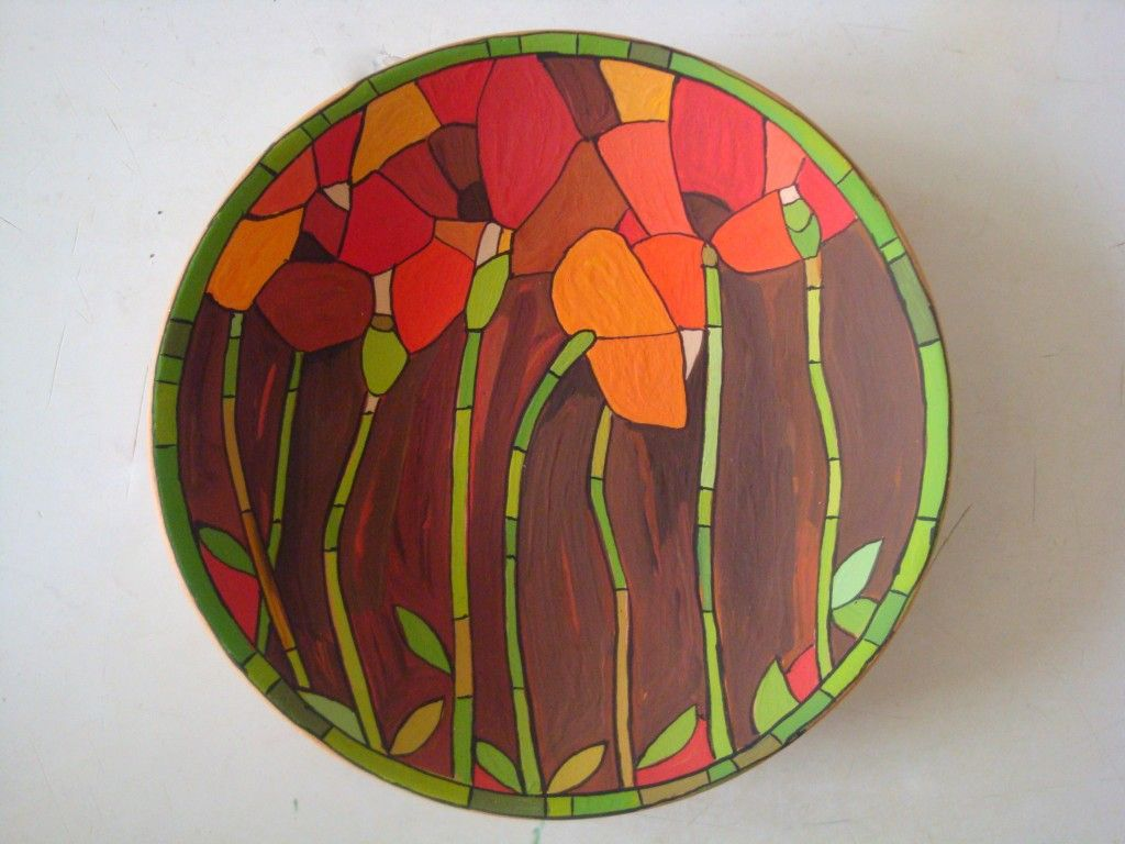 DECORATIVE CERAMIC PLATE This decorative plate is hand painted in very bright and vivid colours depicting red poppies on brown background. & armenian ceramics. I love these poppies / poppy | Kreatív ...