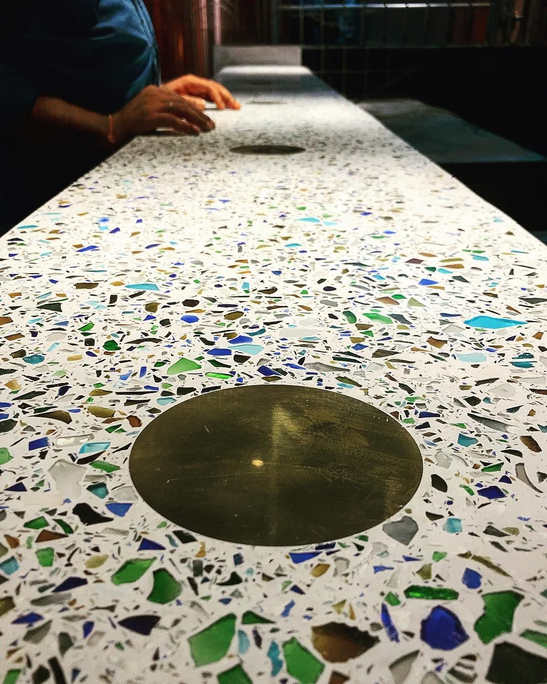 Terrazzo Recycled Glass Countertop For Bar Terrazzo Glass Countertops Recycled Glass Terrazzo