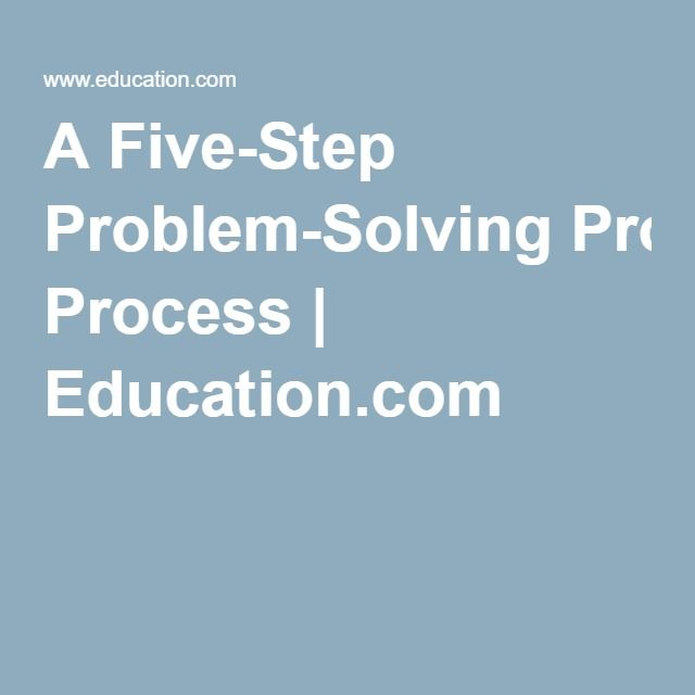 five step problem solving process