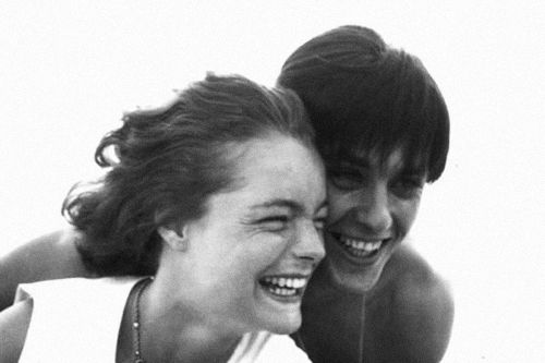 Romy Schneider and Alain Delon photographed by Bert Stern, 1960.
