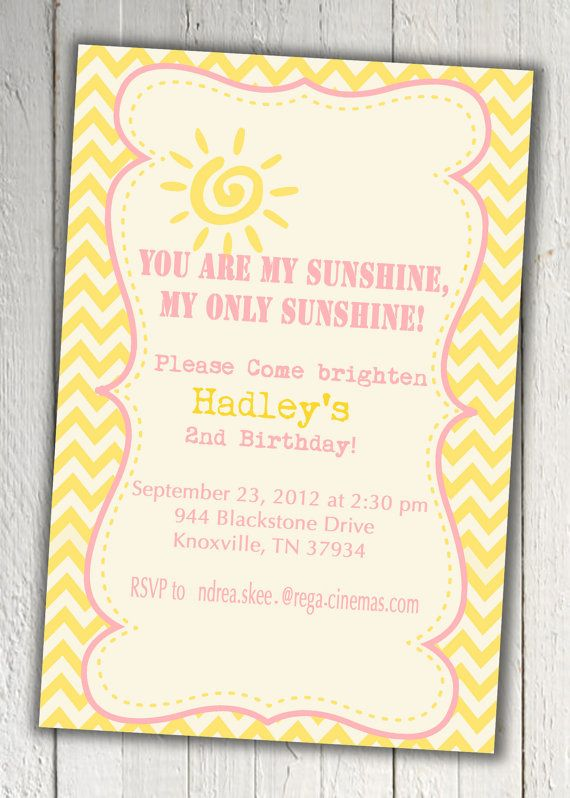 Youre My Sunshine InviteAha Decisionsdecisions