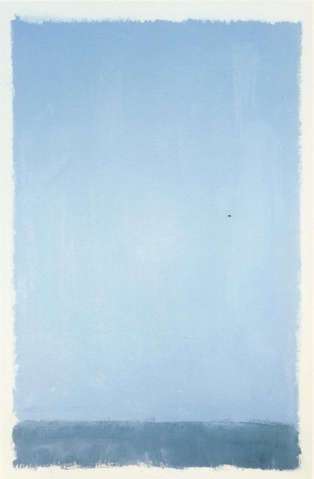 zencalendar:  The bluebird carries on the sky on his back. —Henry David Thoreau Illustration by Mark Rothko