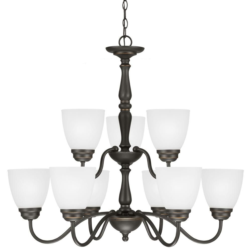 Northbrook nine light chandelier in roman bronze with satin etched northbrook nine light chandelier in roman bronze with satin etched glass 3112409 191 mozeypictures Image collections