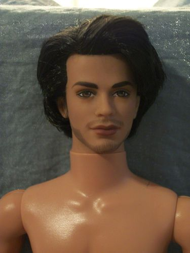 Nude Tango Ken Barbie Doll Raven Hair Articulated Intense -7793