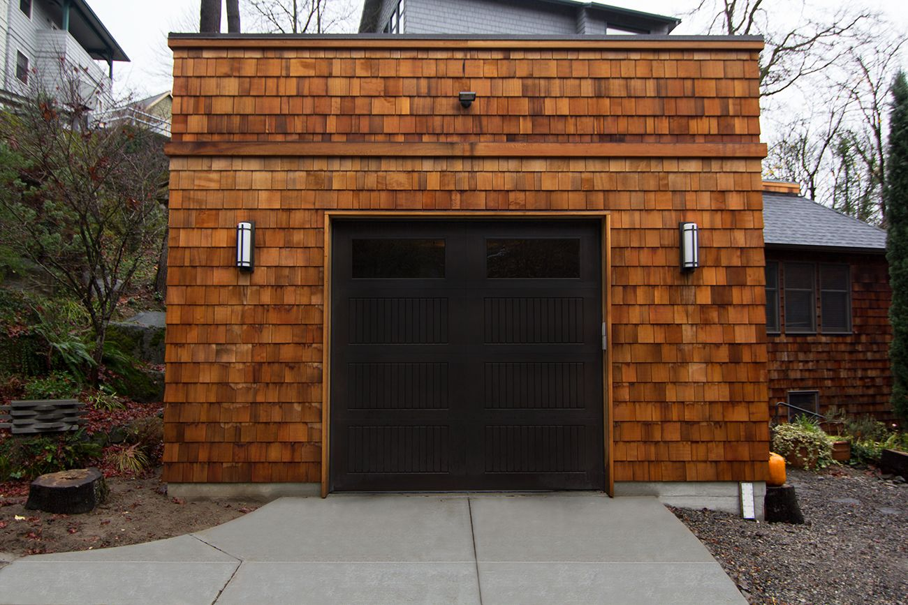 Cedar shingle flat roof garage garage pinterest flat roof cedar shingle flat roof garage rubansaba