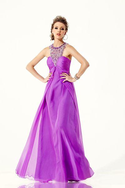KASEY J Prom dress style W167079. Chiffon with beaded neckline.Posh ...