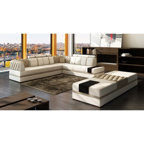 Magdalena Right Hand Facing Modular Sectional Modern Sofa Sectional Contemporary Leather Sofa Modern Leather Sectional Sofas