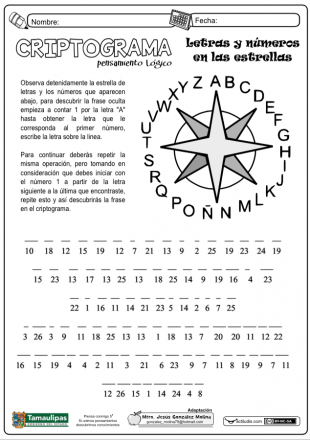 criptograma numbers and letters Pasatiempos Matematicos c609a10131e