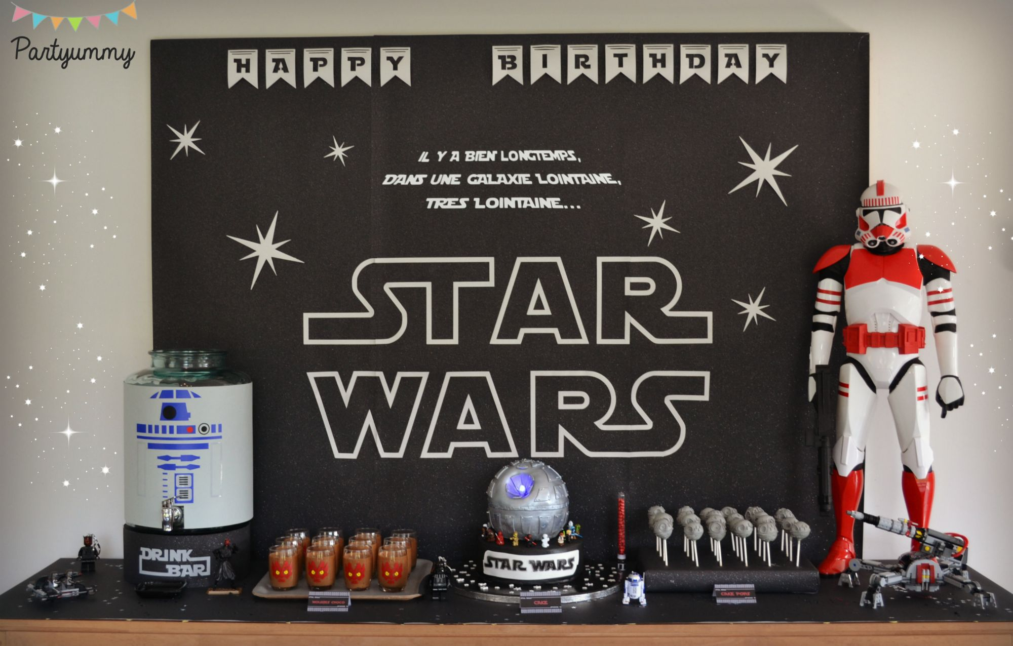 des id es g teaux d co et costumes pour organiser un anniversaire star wars anniv star wars. Black Bedroom Furniture Sets. Home Design Ideas
