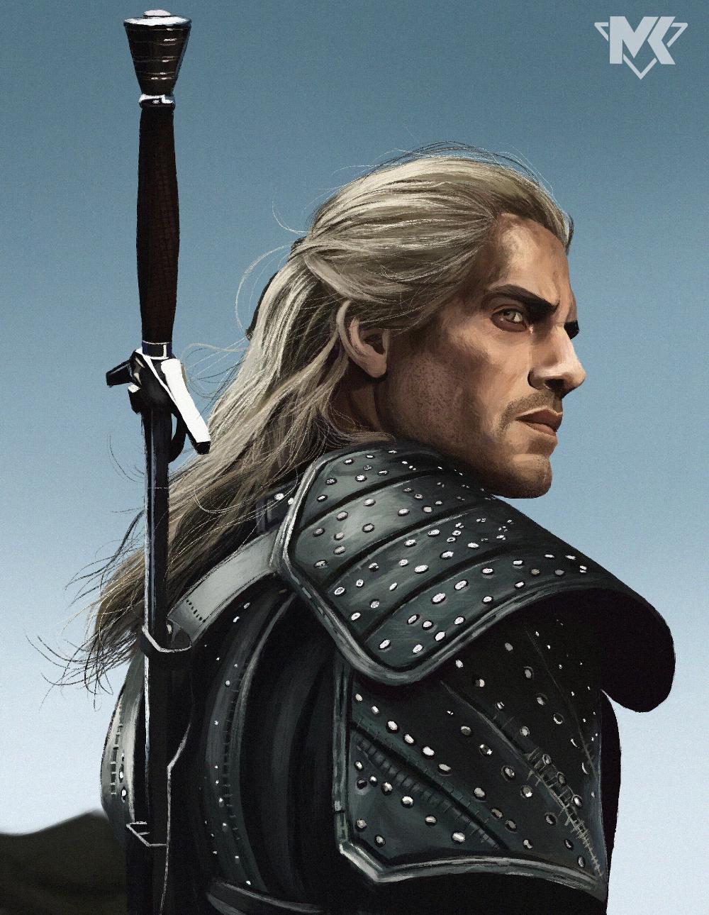 Artstation Henry Cavill The Witcher Netflix Mayank Kumarr The Witcher Geralt The Witcher Witcher Art