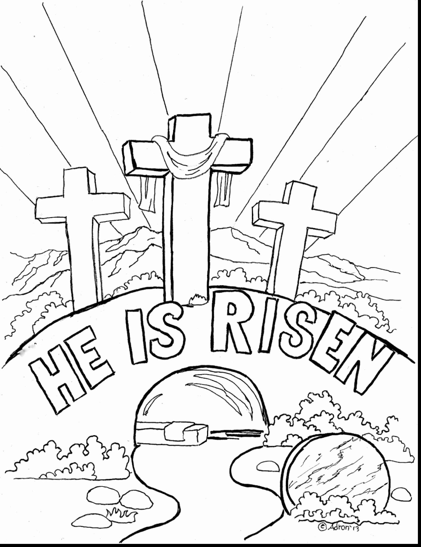 Coloring Page For Easter Awesome Elegant Jesus Risen Coloring