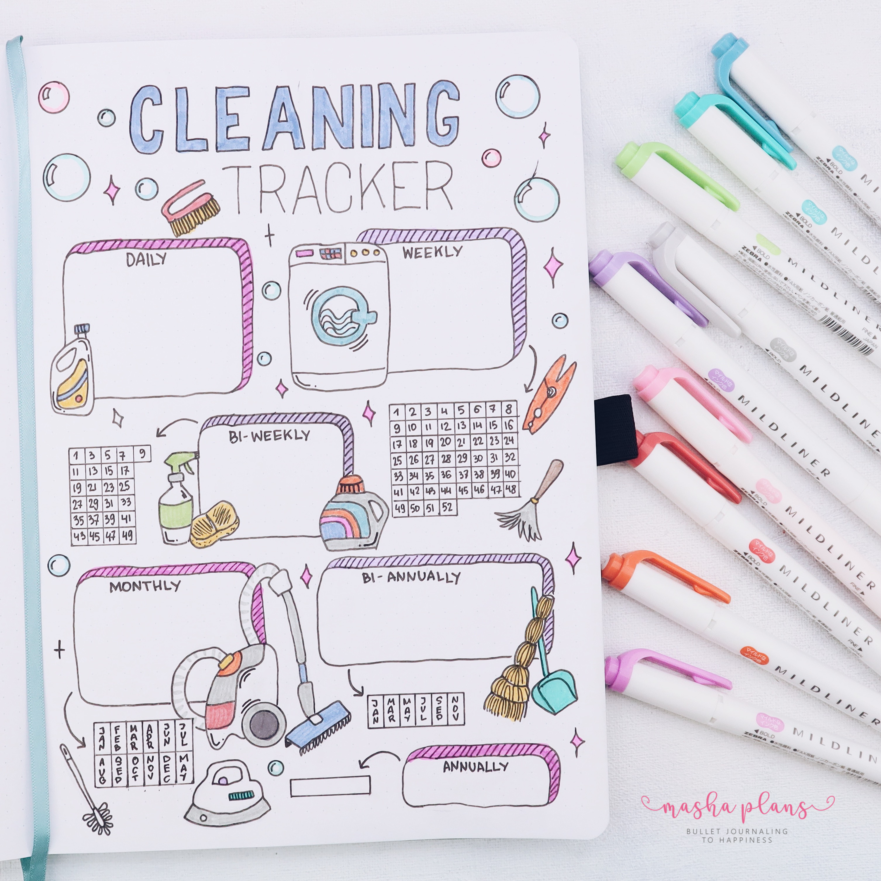 How To Use A Cleaning Tracker In Your Bullet Journal