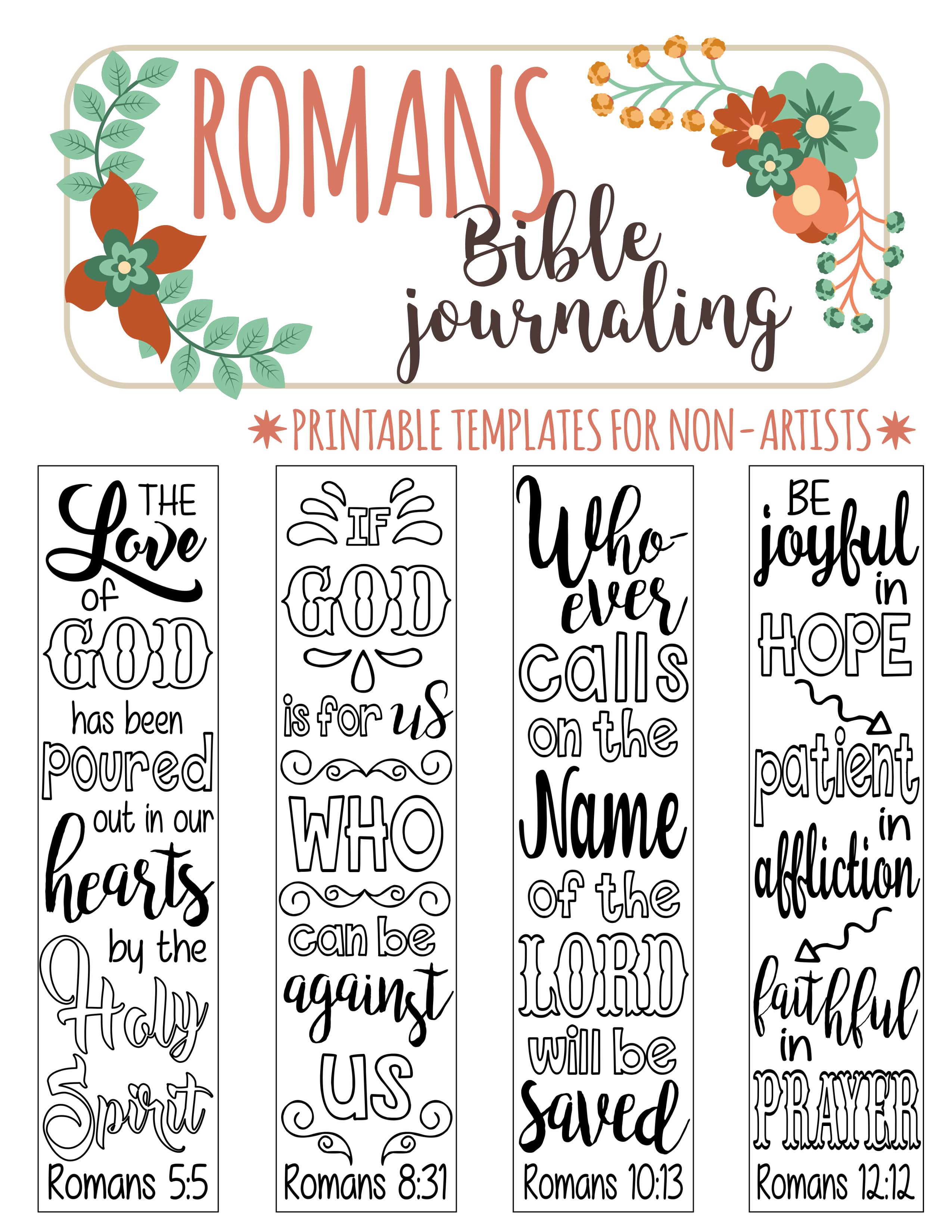 bible journaling template