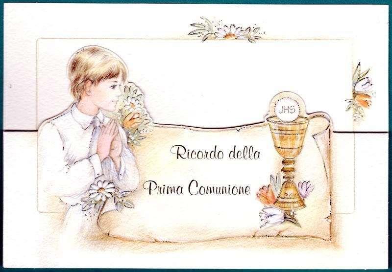 Biglietti Per La Prima Comunione Fai Da Te Da Stampare E Colorare Biglietto Classico Per La Prima Comunione Prima Comunione Comunione Cornici Per Foto
